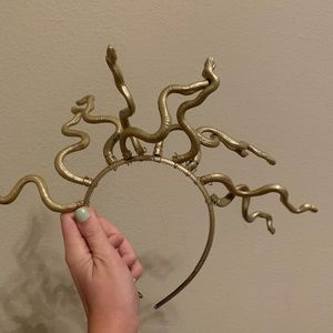 Medusa Snake Costume Headband One Size Gold